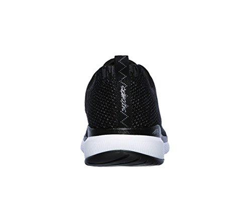 Fitness 2 de White Appeal Skechers Femme Bkw Chaussures Black Flex 0 Noir q4YwX7x