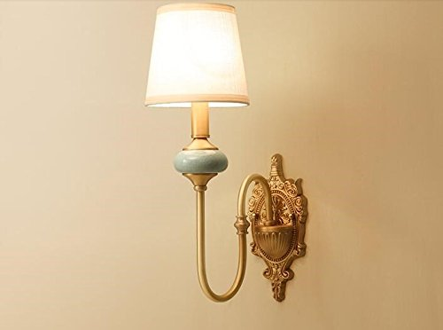 Il rame lampada da parete a finto marmo applique in ceramica d