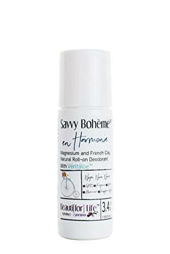French Clay Deodorant - en Harmonie Magnesium and French Clay Aluminum-Free Natural Roll-on Deodorant Non-Staining Bohemia Long-Lasting Protection