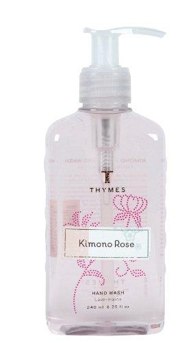 Thymes Hand Wash, Kimono Rose, 8.25-Ounce Pump Bottle