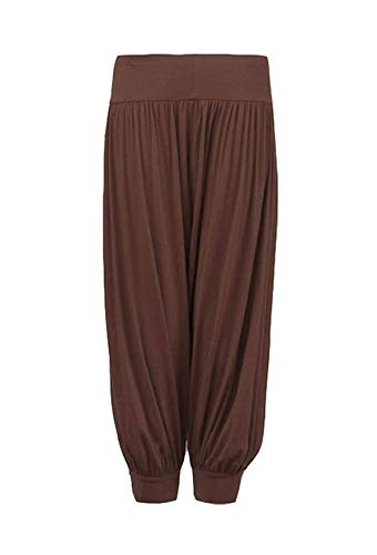 - Loxdonz Kids Harem Loose Casual Baggy Sports Dancing Pants Girls Harem Children Trouser (11-12 Years, Brown)