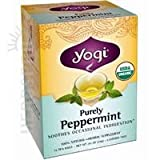 YOGI TEA,OG2,PURELY PEPPERMIN, 16 BAG