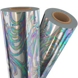Oil Slick Silver Holographic Laminating/Toner Fusing Foil (12