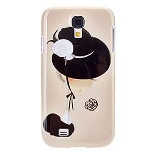 GHK - Elegant Cartoon Lady Pattern Durable Hard Case for Samsung Galaxy S4 I9500
