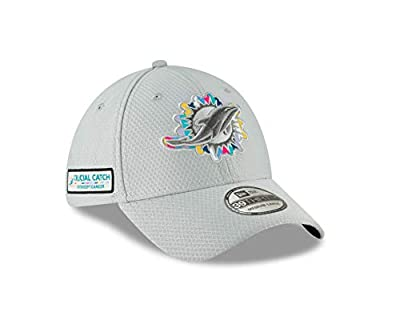 New Era Miami Dolphins Crucial Catch 39Thirty Flex Fit Hat – Gray