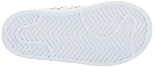 adidas Originals Unisex Superstar Running Shoe, White/White/White, 1 M US Little Kid by adidas Originals (Image #3)