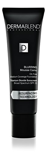 Dermablend Blurring Mousse Camo Oil-Free Foundation Makeup with SPF 25, Medium to Full Coverage Foundation, 55N Saffron, 1 Fl. Oz