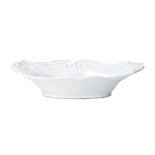 Vietri INC-1155 Incanto Baroque Medium Au Gratin Dish, White