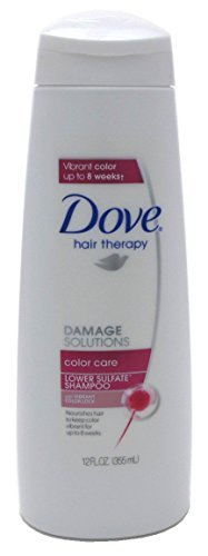 Dove Shampoo 12 Ounce Color Care Damage Solutions (354ml) (3 Pack)