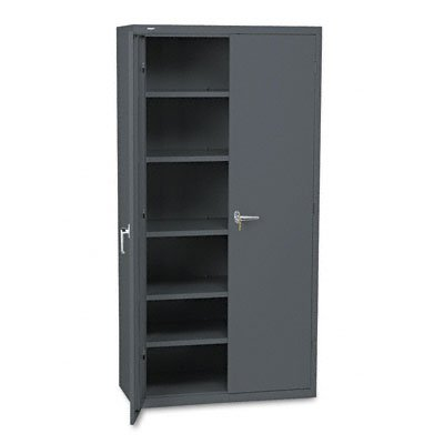 Hon Brigade Series Five Shelf Storage Cabinet   High Storage Cabinet  36W By 24D By 72H   Charcoal  Hsc2472