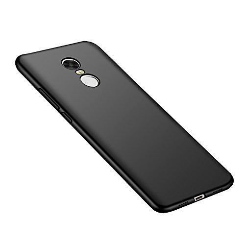 Xiaomi Redmi 5 Plus Funda + Acollador, Flexible Suave Silicona Gel Carcasa, Ultra Delgado y Ligero Protectora Completa TPU Goma Caso, Anti-Arañazos Anti-Huellas Dactilares Caja - Rosa Oro Negro