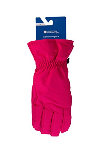 - Mountain Warehouse Womens Ski Gloves - Snow Proof Bright Pink Medium