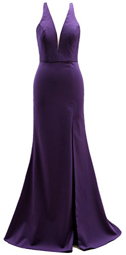 Gown Ball Eggplant Neck Party Macloth Cocktail V Women Elegant Evening Dress cn Long Formal qwvPw7
