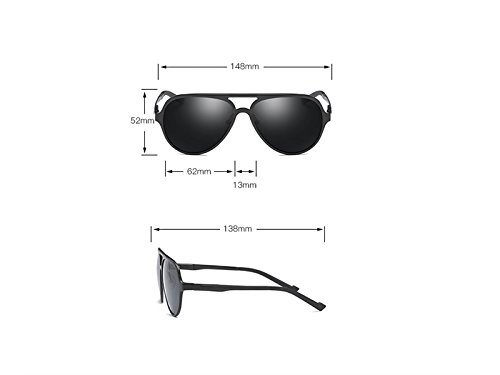 ATTOUPAN magnesio y Libre para de al para Aluminio Gafas Gris Hombre de polarizadas Mujer Aire Marco Deportes rSqrwRvAn