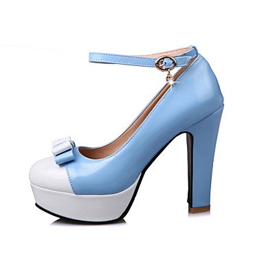 cuero Azul Talones Otros y Blue de Rosa primavera mujeres de verano de de aguja Otro tacón Negro las vestido de 8gqfTW8r