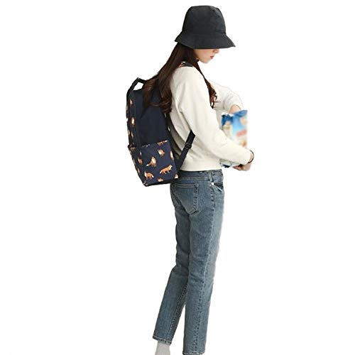 Foncé Sac Sac Bleu Teenager de Loisir Voyage Bleu 1pc Cartable 41 à 32 Dos Renard Impression 15CM Mode Adulte Dos à D'ecole Renard Sac Emorias foncé de de wf5appq