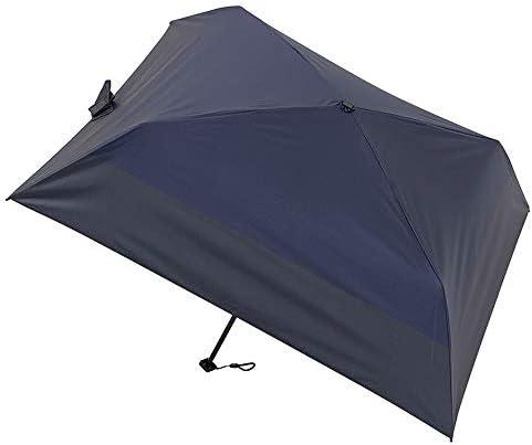 [ムーンバット] masu(マス) 晴雨兼用 メンズ日傘 四角形折りたたみ傘 バイカラー 50㎝【超軽量・超スリム】