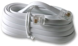 CABLE, RJ12-RJ12, WHITE, X WIRE, 3M PS11459 By PRO SIGNAL PS11459-PRO SIGNAL