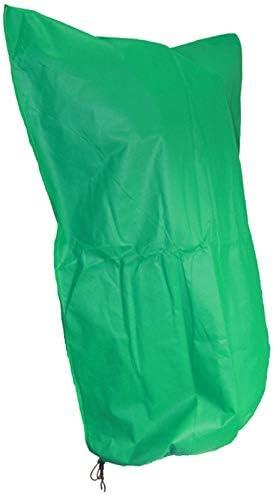 """霜の保護用植物カバー、10パックの庭の植物保護ネット、巾着付き植物の植物バリアバッグ野菜用果物フラワー保管が簡単,グリーン,31.4""""*47.2"""""""
