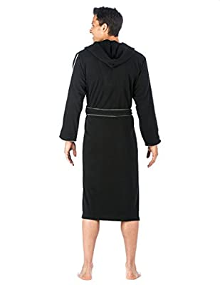 Noble Mount Mens Fleece Lined Hooded Robe