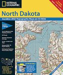 National Geographic TOPO! North Dakota Map CD-ROM (Windows)