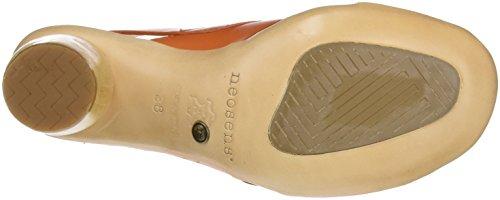 Restaurato Delle Open S628 Neosens Carota carota Pelle Donne Arancione Sandali Toe Mulata wa51q