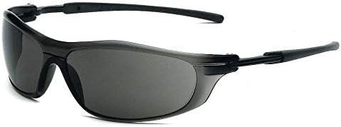 Gray Smoke Galeton 9200161 Rail Anti-Scratch Wrap-Around Lens Safety Glasses