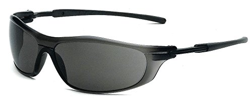 Galeton 11037 Rail Anti-Scratch Anti-Fog Wrap-Around Lens Safety Glasses, - Best Lenses Scratch Anti