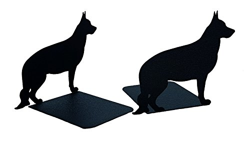 Mustard Seed Metal Worx German Shepherd Book Ends, set of 2