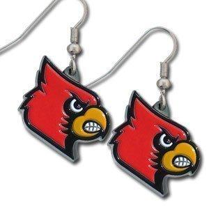 - Louisville Cardinals Enameled Zinc Logo Earrings - NCAA College Athletics Fan Shop Sports Team Merchandise