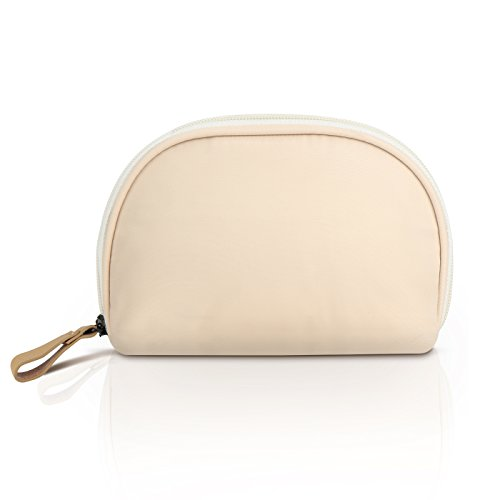 Price comparison product image Cosmetic Pouch,Mossio Makeup Brush Holder Zippered Travel Bag for Women Girls Beige