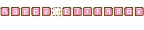 - Felt Letter Banner, Sweet at One Girls 1st Birthday