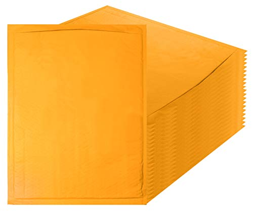 Kraft bubble mailers 14.25 x 19 Padded envelopes 14 1/4 x 19 by Amiff. Pack of 10 Kraft Paper cushion envelopes. Exterior size 14.5 x 20 (14 1/2 x 20). Peel & Seal. Mailing & shipping & packing. by Amiff