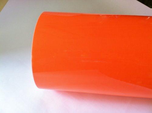 Fluorescent Orange Neon Sign Vinyl, Self-adhesive, 24