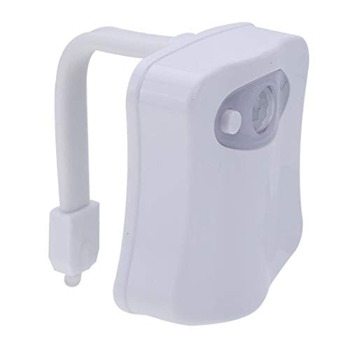 Bluefringe 16 Colors LED Motion Activated Sensor Automatic Toilet Bowl Night Light New