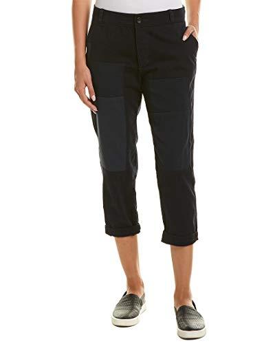 James Perse Womens Patched Vintage Linen-Blend Pant, 25, Blue ()