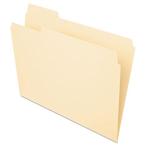 Pendaflex Essentials 752131 File Folders, 1/3 Cut, First Position, Top Tab, Letter, Manila, 100/Box