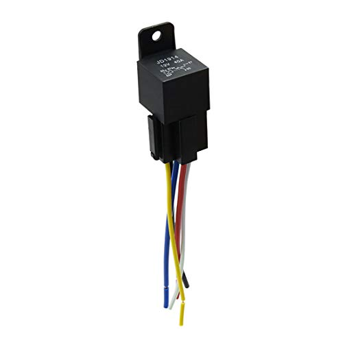 - uxcell DC 12V 40A SPDT Automotive Car Relay 5 Pin 5 Wires w/Harness Socket Plug
