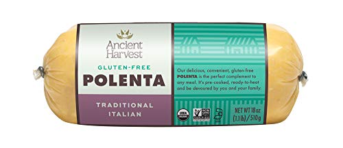 (Ancient Harvest Certified Organic Polenta, Traditional Italian, Gluten Free, Ready To Heat And Serve, 18 oz (Pack of 12))