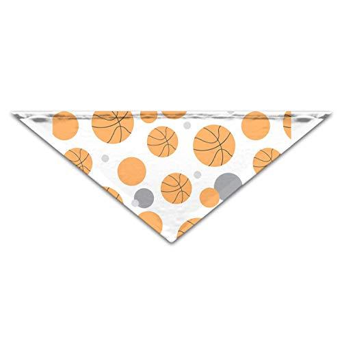 HJudge Dog Bandana Roll Pattern Basketball Dog Scarf Marvellous Pet Triangle -