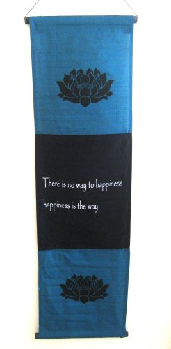Happiness Wall Hanging Happiness Scroll Prayer Flag Affirmation, - Prayer Wall Hanging