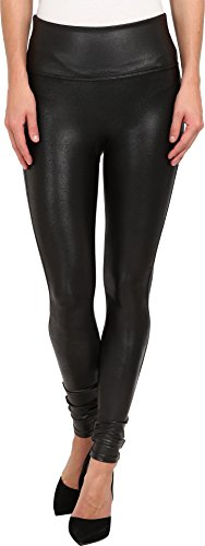 SPANX Women's Ready-to-Wow Faux Leather Leggings, Black, LG X -