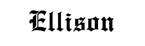 (Ellison Family Sticker Decal Bumper Window Laptop Old English Font Black)