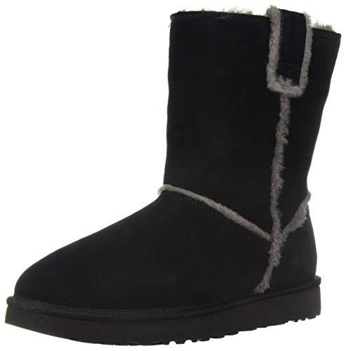 UGG Women's W CLASSIC SHORT SPILL SEAM Fashion Boot, black, 8 M US (Classic Black Boots Short Ugg)