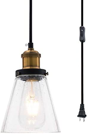 Eumyviv P0013 1-Light Spherical Displays Changeable Industrial Pendant Ceiling Light Edison Vintage Decorative Hanging Lighting Fixtures Lighting Luminaire