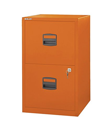 Bisley two drawer steel home filing cabinet orange file2 for Kitchen cabinets jeddah