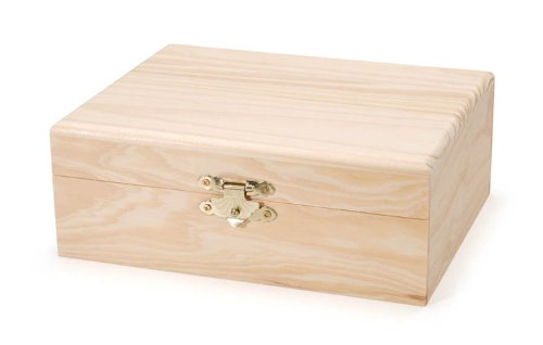 Darice 9151-57 Rectangle Wood Box, 7-1/8-Inch