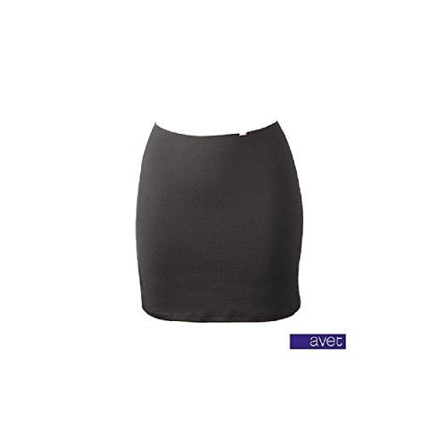 AVET 79290 - falda combinacion microfibra NEGRO