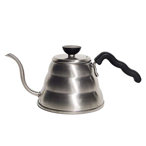 Hario V60 Buono Stainless Steel Gooseneck Coffee Kettle Stovetop (1 liter / 1000ml),