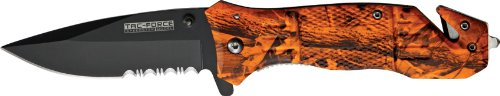 Tac Force TF-434OC Assisted Opening Folding Knife 4.5-Inch Closed, Outdoor Stuffs